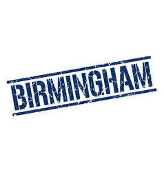 Birmingham blue square stamp vector