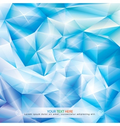 Blue Crystal Background vector image vector image