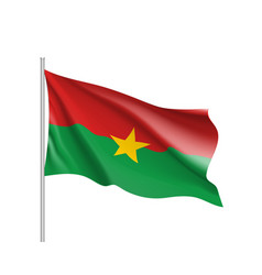 Burkina faco realistic flag vector