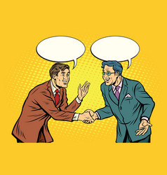 Business negotiations businesspeople shaking hands vector