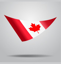 canadian flag background vector image vector image