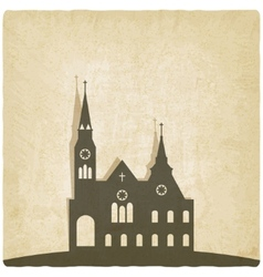 Catholic church old background vector image vector image