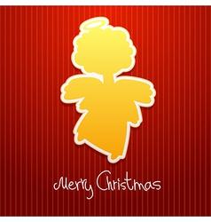 Christmas angel card2 vector