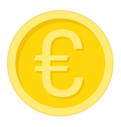 coin euro flat icon business and finance money vector image vector image