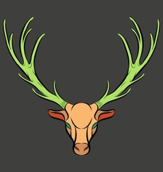 Colorful dead deer trophy vector