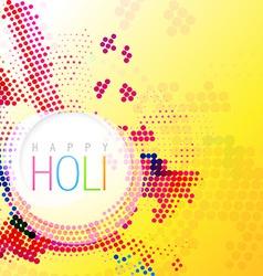 colorful holi background vector image