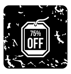 Discount icon grunge style vector image