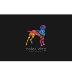 Dog logo design Animal logo Colorful logo vector image vector image