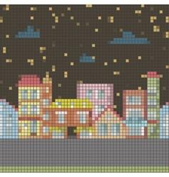 geometrical night seamless cartoon town vector image