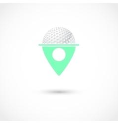 Golf club tag vector image vector image
