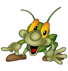 happy bug vector image