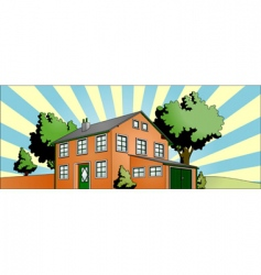 house with garden vector image