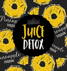 Juice banner design restaurant template vector image vector image