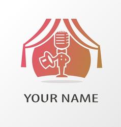logo actor vector image vector image