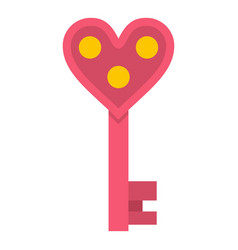 Love key icon isolated vector