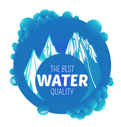 Mineral water label vector