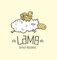 Modern professional sign logo lamb holiday vector