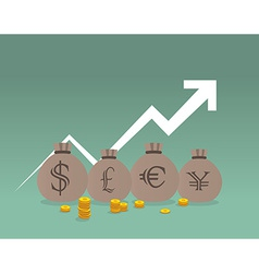 Money sack vector image