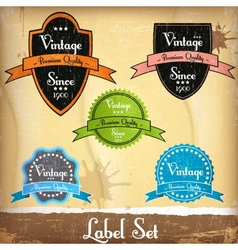 Old label vector image vector image
