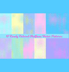 pastel color halftone square backgrounds vector image vector image