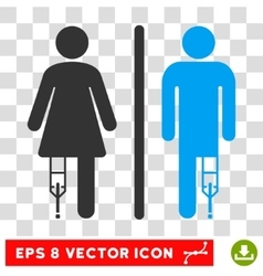 Patient wc persons eps icon vector