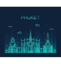 Phuket trendy linear style vector