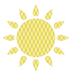 symbol of sun vector image vector image