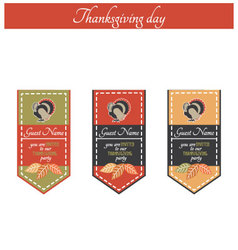 Vintage thanksgiving party invitation vector image