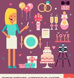Wedding planner set 1 vector