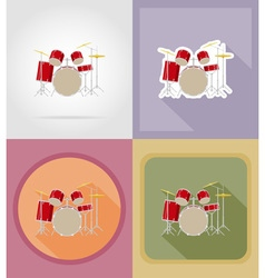 Music items and equipment flat icons 16 vector