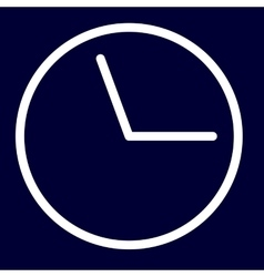 Time or deadline icon of set white outlines vector image