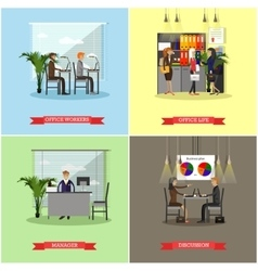 Set of business presentations and meetings vector