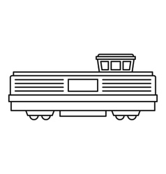 Freight train icon outline style vector