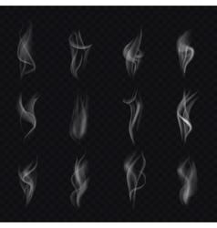 12 different isolated smoke Realistic smoke vector image