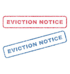 Eviction notice textile stamps vector