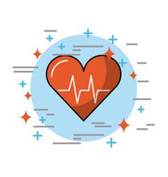 Hearth in circle health vector