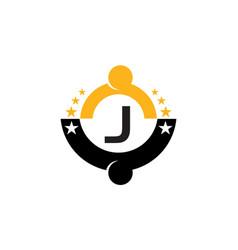 Success life coaching initial j vector