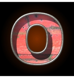 Old metal letter o vector