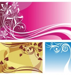 three backgrounds vector image