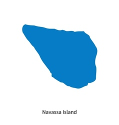 Detailed map of navassa island vector