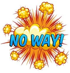 No way vector image