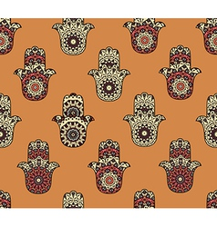 Seamless pattern with hamsa vector
