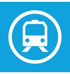 Train sign icon vector
