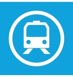 Train sign icon vector image