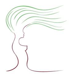 female sketch vector image