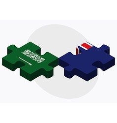 Saudi arabia and falkland islands flags vector