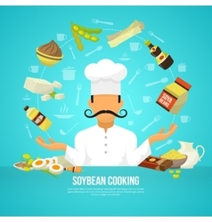 Soy food concept vector