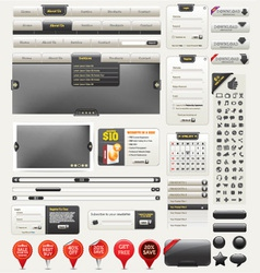 web design kit vector image