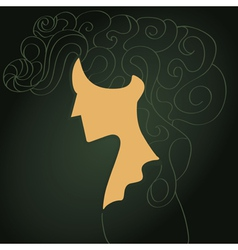 Woman portrait vector image