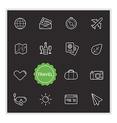 Set of travel holiday elements can be used as logo vector